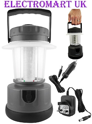 Rechargeable Camping Lantern Super Bright 20 Led Bulbs 12V Or Mains