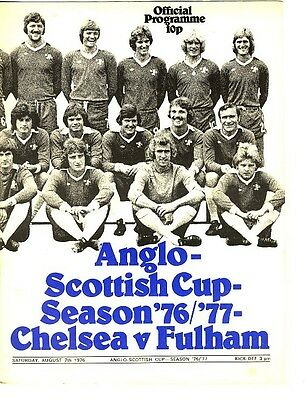 CHELSEA v Fulham (Anglo Scottish Cup) 1976/7