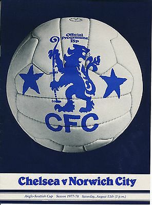 CHELSEA v Norwich City (Anglo Scottish Cup) 1977/8