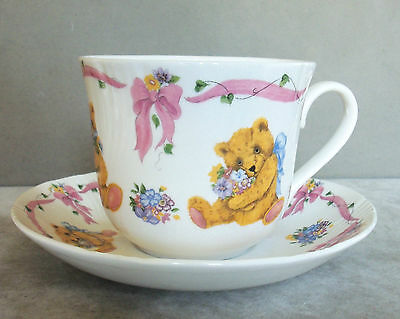 Roy Kirkham - Teddies Bouquet. Large Cup & Saucer Set. VGC