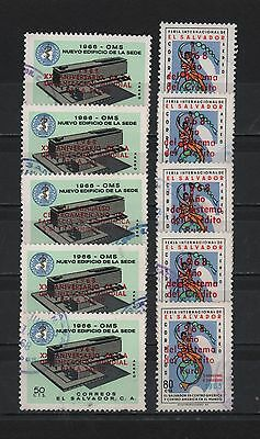 El Salvador 1966-1968 World Health Xx Anniversary Rural Credit Lot 5 # C231-C246
