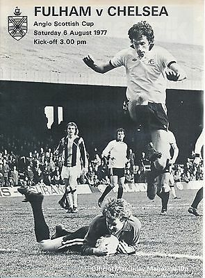 FULHAM v Chelsea (Anglo Scottish Cup) 1977/8