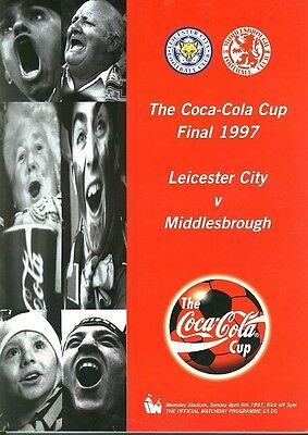 LEAGUE CUP FINAL PROGRAMME 1997: Leicester v Middlesbrough