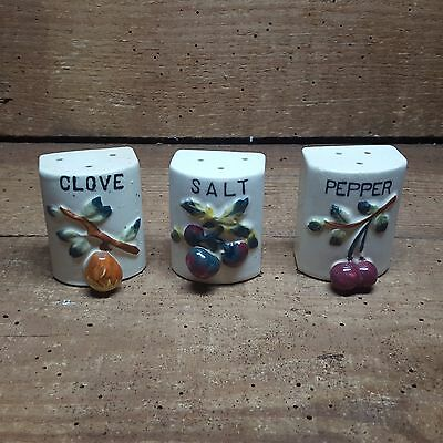 3 Pieces ~Vintage Spice / Salt And Pepper Shakers~Cork Stoppers~Japan