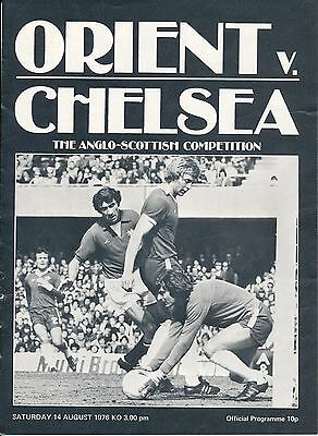 ORIENT v Chelsea (Anglo Scottish Cup) 1976/7