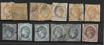 """St. Lucia. Range QV FORGERIES. Sold """"as is"""" (13)"""