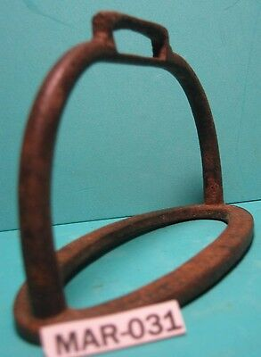 RARE Antique Squatty Iron Unusual Saddle Stirrup Odd Shape Very MAKE OFFER