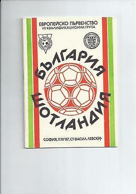 Bulgaria v Scotland 1987 International Football Programme