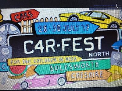 Carfest North Tickets FAMILY Weekend Camping + CARAVAN / CAMPER PERMIT