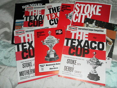 Texaco Anglo Scotish Watney Cup Programmes - Choose From List