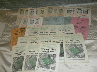Swansea City Town Home Programmes From 1954 - 6 Choose From List
