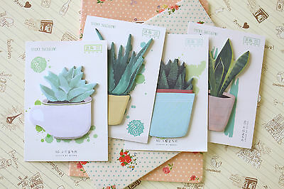 Sticky Succulent Sticky Notes cute cactus cartoon plants planner note memo pad