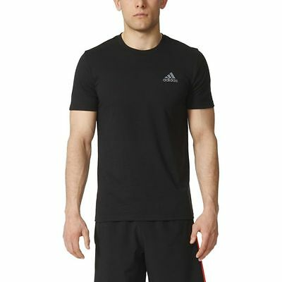 Adidas Men's The Go-To Performance Short Sleeve Tee 60% Poly 40% Cotton , Black