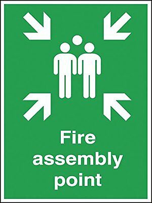 "Signs and Labels AMZFR045ARWVR ""Fire Assembly Point"" Safe Condition Safety Sign,"