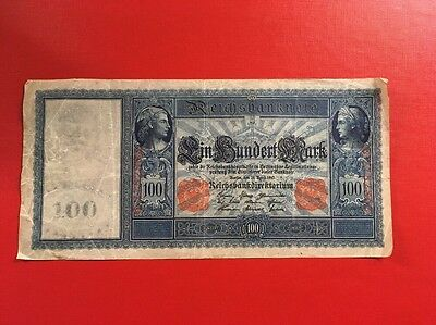 Beautiful German One Hundred Mark Banknote 1910
