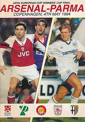 CUP WINNERS CUP FINAL 1994 Parma v Arsenal