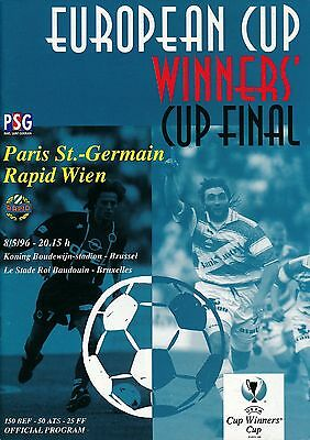 CUP WINNERS CUP FINAL 1996 PSG v Rapid Vienna