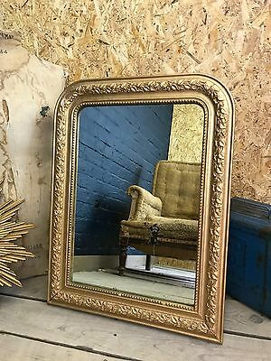 Stunning Antique Vintage French Ornate Gilt Gold Gesso Wall Mirror