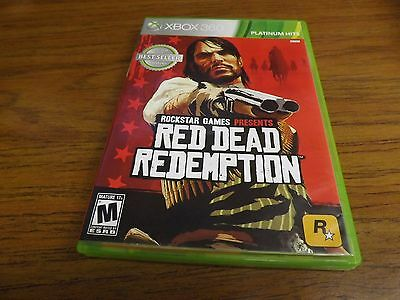 Red Dead Redemption XBOX 360 Game Complete w/ MAP!