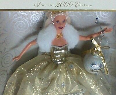 2000 Holiday Celebration Special Edition Barbie Doll NRFB #1  Series GOLD Dress