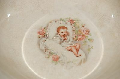 Vintage Homer Laughlin Round Ceramic Bowl Baby Roses
