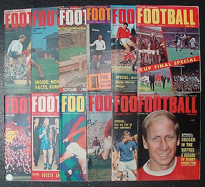 CHARLES BUCHAN'S Football Monthly 1968 Set of 12 issues