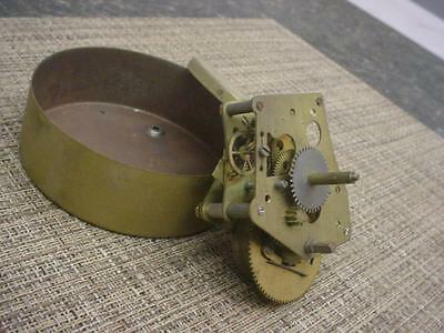 """Vintage """"Made in USA""""  4"""" Round Time-Only Mechanical Brass Clock Movement  E1002"""
