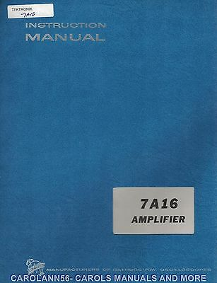 TEKTRONIX Manual 7A16 AMPLIFIER