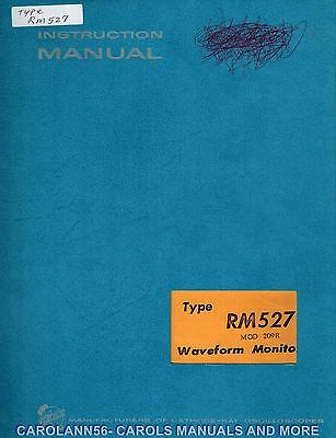 TEKTRONIX Manual RM527 WAVEFORM MONITOR