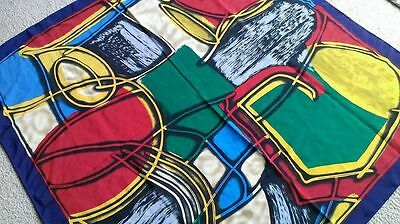CONSTANTINO Roma ABSTRACT Red Green Blue Water Silk Scarf