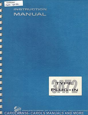 TEKTRONIX Manual TYPE 3A72 PLUG-IN