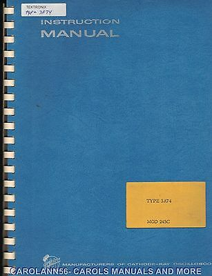 TEKTRONIX Manual TYPE 3A74 PLUG-IN