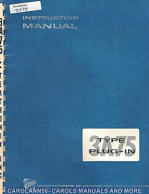 TEKTRONIX Manual TYPE 3A75 PLUG-IN