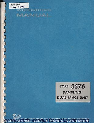 TEKTRONIX Manual TYPE 3S76 SAMPLING DUAL TRACE UNIT