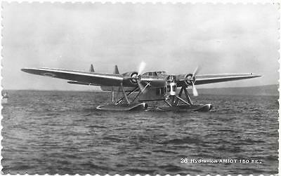 Late 1930s France Amiot 150BE Seaplane Unused Military Aircraft RP Postcard
