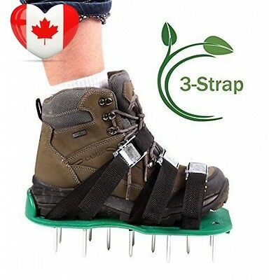 Ohuhu Lawn Aerator Shoes Spikes Sandals for Aerating Your or Yard