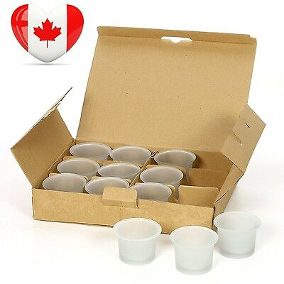"""Hosley's Set of 12 Frosted White Oyster Cup Glass Tea Light Holders 2.5""""..."""