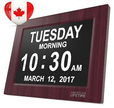Newest Version Day Clock Extra Large Impaired Vision Digital with 5 Alarm...