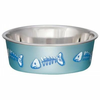 Skeleton S/S Cat Bowl Metallic Blue 235ml