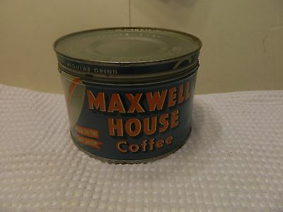 vintage maxwell house 1lb coffee tin can