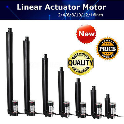 """4"""" 10"""" 16"""" Inch Linear Actuator Stroke 900N 225 Lbs Pound Max Lift 12V Volt DC"""