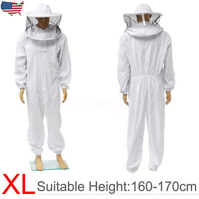 Beekeepers Protection Bee keeping Suit Safty Veil Hat All Body Equipment Hood XL