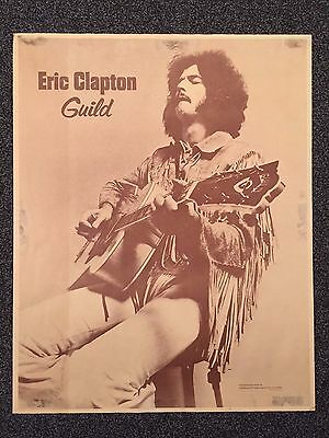 """ERIC CLAPTON Plays GUILD F-50"" -Vintage-RARE- 1960's Store Poster-29""H x 23""W"