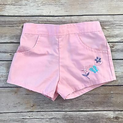 HUSH PUPPIES Girls Vintage Size 12m Pink Floral Shorts