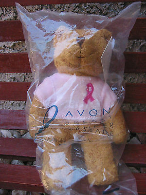 Avon Breast Cancer Crusade Minature Plush Bear *new*sealed* 2001