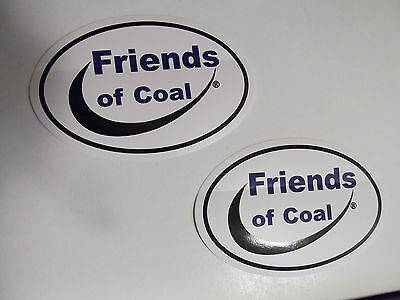 2 Friends of Coal Mining Decal 4x6in Stickers  Show Support For Our Coal Miners