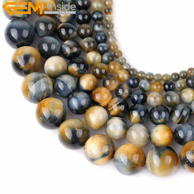 Natural AAA Grade Dream Lace Gold Blue Tiger's Eye Beads For Jewelry Making