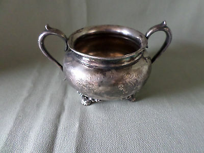 Vintage Forbes Silver Co. Quadruple Silver Plate Sugar Bowl #634