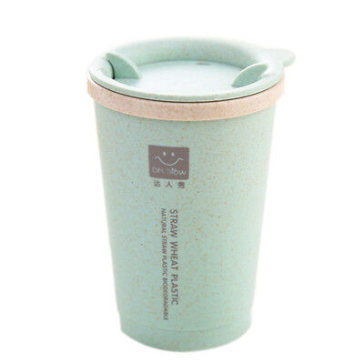 KCASA  Leakage proof Double-wall Insulation Wheat Straw Coffee Cup Travel Mug
