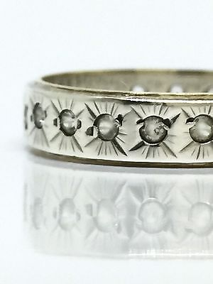 VINTAGE Old Handmade Sterling Silver & 9k Gold Gypsy Star Set Ring Size 8